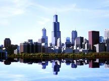 Paesaggio di Chicago Fotografie Stock