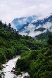 Paesaggio di cinese della contea del Tibet Medog Fotografia Stock Libera da Diritti