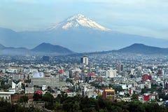 Paesaggio di Città del Messico Fotografia Stock