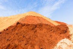 Paesaggio di colori della sabbia della terra Immagine Stock