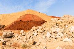 Paesaggio di colori della sabbia della terra Fotografia Stock Libera da Diritti