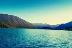 Paesaggio di Como del lago Fotografie Stock Libere da Diritti