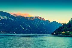 Paesaggio di Como del lago Immagine Stock