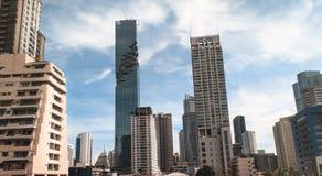 Paesaggio di costruzione a Bangkok Fotografia Stock