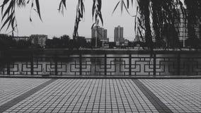 Paesaggio di crepuscolo della città fotografia stock