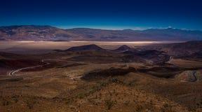 Paesaggio di Death Valley dal padre Clowley Point fotografie stock libere da diritti