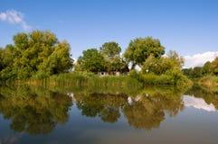 Paesaggio di delta di Danubio Immagine Stock