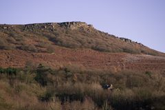 Paesaggio di Derbyshire Bamford Fotografie Stock