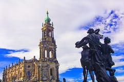 Paesaggio di Dresda Fotografia Stock