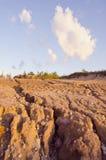 Paesaggio di erosione di pioggia Immagine Stock