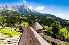 Paesaggio di estate in alpi austriache Fotografia Stock Libera da Diritti