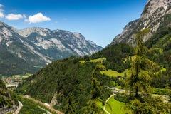 Paesaggio di estate in alpi austriache Immagine Stock Libera da Diritti