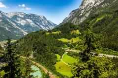Paesaggio di estate in alpi austriache Fotografie Stock Libere da Diritti