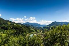 Paesaggio di estate in alpi austriache Fotografie Stock