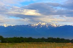 Paesaggio di estate, Burunday, Almaty, il Kazakistan Fotografie Stock