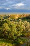 Paesaggio di estate, Burunday, Almaty, il Kazakistan Fotografia Stock