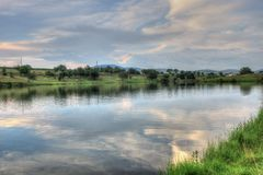 Paesaggio di estate in campagna bulgara Immagini Stock