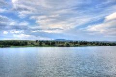 Paesaggio di estate in campagna bulgara Immagine Stock