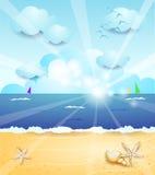 Paesaggio di estate con alba Fotografia Stock