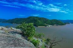 Paesaggio di estate del lago Lianhua Fotografia Stock