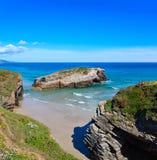 Paesaggio di estate della costa di Cantabric Immagini Stock Libere da Diritti