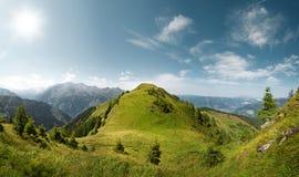 Paesaggio di estate della montagna nelle alpi, Austria Fotografia Stock Libera da Diritti