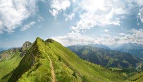 Paesaggio di estate della montagna nelle alpi, Austria Immagini Stock