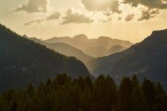 Paesaggio di estate delle dolomia Immagine Stock