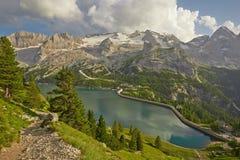 Paesaggio di estate delle dolomia Fotografia Stock