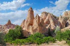 Paesaggio di estate di Cappadocia Immagini Stock Libere da Diritti