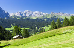 Paesaggio di estate in dolomia Fotografia Stock