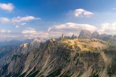 Paesaggio di estate in dolomia italiane Fotografia Stock