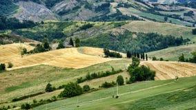 Paesaggio di estate fra Guiglia e Bologna Fotografia Stock Libera da Diritti
