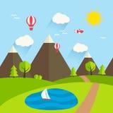 Paesaggio di estate, illustrazione di vettore Illustrazione Vettoriale
