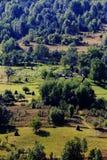 Paesaggio di estate in montagne di Apuseni Fotografie Stock