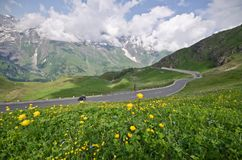Paesaggio di estate nelle alpi austriache Fotografia Stock