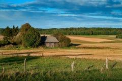 Paesaggio di estate in Polonia rurale Immagine Stock Libera da Diritti