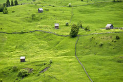 Paesaggio di estate in Romania Fotografie Stock Libere da Diritti