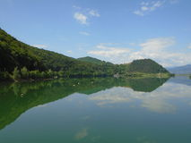 Paesaggio di estate in Romania Immagini Stock