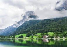 Paesaggio di estate sul lago Hintersee Immagini Stock