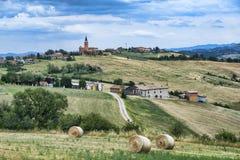 Paesaggio di estate vicino a Serramazzoni Modena, Italia Immagine Stock Libera da Diritti