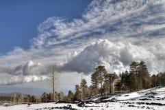Paesaggio di Etna Immagine Stock