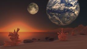 Paesaggio di fantascienza Fotografia Stock