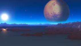 Paesaggio 5 di fantascienza Fotografia Stock