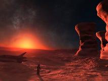 Paesaggio 2 di fantascienza Fotografie Stock Libere da Diritti
