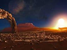 Paesaggio 1 di fantascienza Fotografia Stock