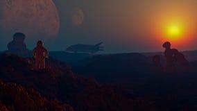 Paesaggio 7 di fantascienza Fotografia Stock