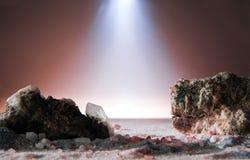Paesaggio di fantasi lurar minerali Arkivfoto