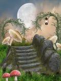 Paesaggio di fantasia illustrazione di stock