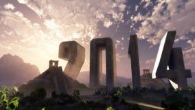 Paesaggio 2014 di fantasia di anno illustrazione vettoriale
